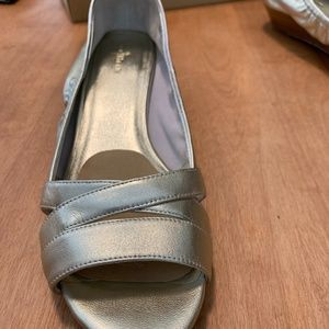 Cole Haan Gold Metalic open toed wedge - Like New